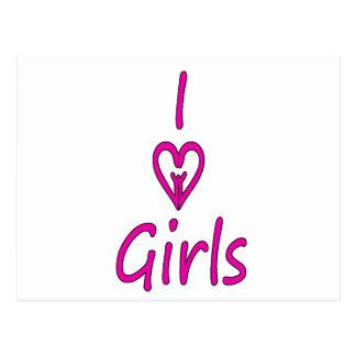 i love girls postcard