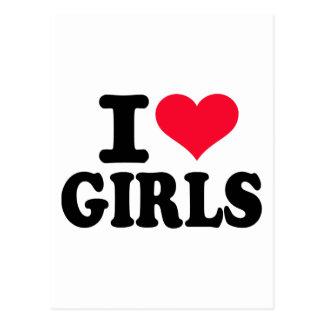 I love girls post cards