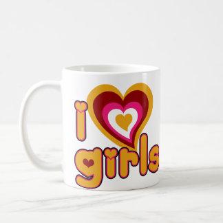 I Love Girls Retro Mugs and Steins