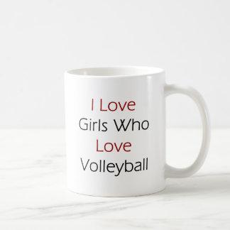 I Love Girls Who Love Volleyball Mugs