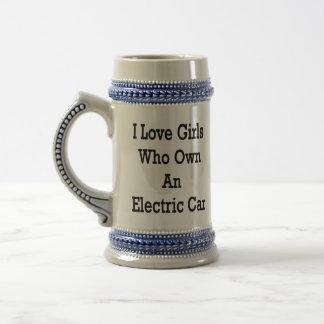 I Love Girls Who Own An Electric Car Mugs