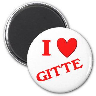I Love Gitte Refrigerator Magnets