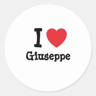 I love Giuseppe heart custom personalized Round Sticker