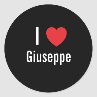 I love Giuseppe Stickers