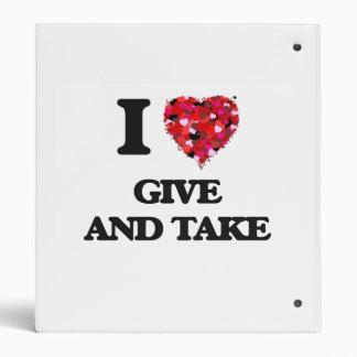 I Love Give And Take Binders
