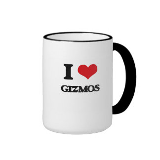 I love Gizmos Ringer Coffee Mug