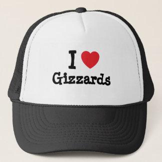 I love Gizzards heart T-Shirt Trucker Hat