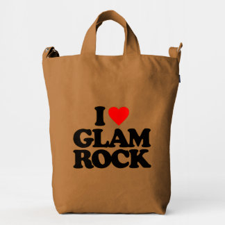 I LOVE GLAM ROCK DUCK CANVAS BAG