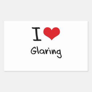 I Love Glaring Rectangular Sticker