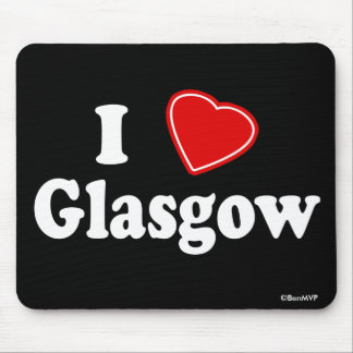 I Love Glasgow Mouse Pad
