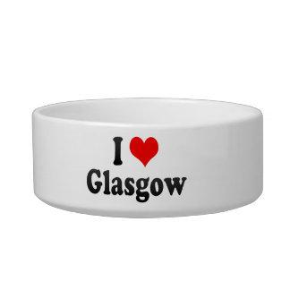 I Love Glasgow, United Kingdom Cat Bowls
