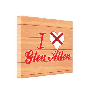 I Love Glen Allen, Alabama Gallery Wrap Canvas