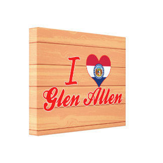I Love Glen Allen, Missouri Stretched Canvas Prints