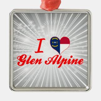 I Love Glen Alpine, North Carolina Christmas Tree Ornaments