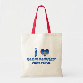 I love Glen Aubrey, New York Budget Tote Bag