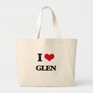 I Love Glen Jumbo Tote Bag