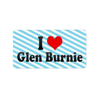 I Love Glen Burnie, United States Personalized Address Labels