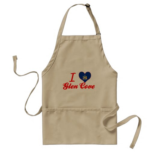 I Love Glen Cove, New York Adult Apron