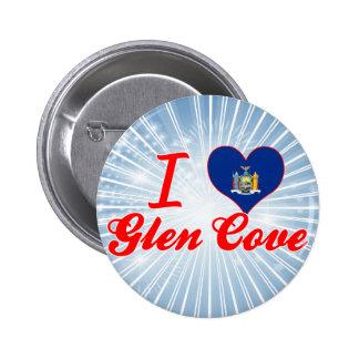I Love Glen Cove, New York Pinback Buttons