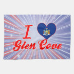I Love Glen Cove, New York Kitchen Towels