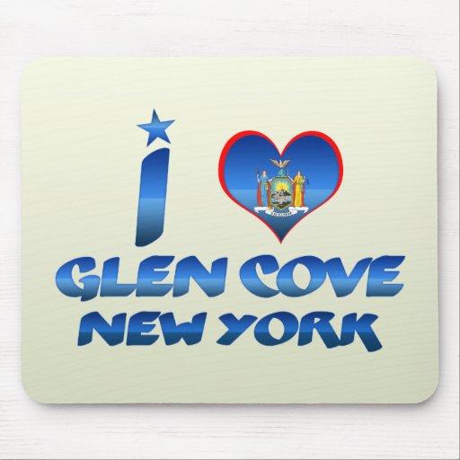 I love Glen Cove, New York Mousepads