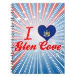 I Love Glen Cove, New York Spiral Notebooks