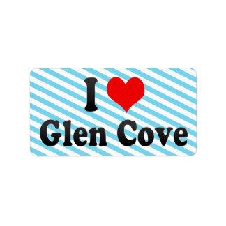 I Love Glen Cove, United States Address Label
