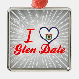 I Love Glen Dale, West Virginia Christmas Tree Ornaments