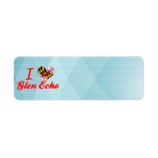 I Love Glen Echo, Maryland Custom Return Address Labels