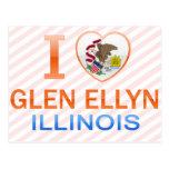 I Love Glen Ellyn, IL Postcards