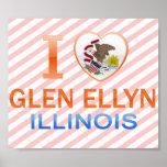 I Love Glen Ellyn, IL Poster