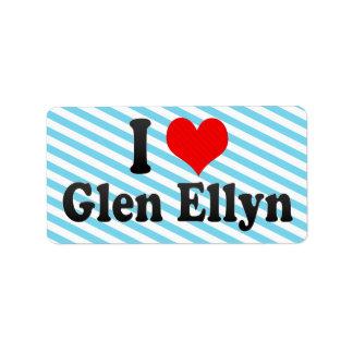 I Love Glen Ellyn, United States Custom Address Labels