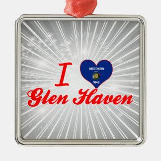 I Love Glen Haven, Wisconsin Christmas Ornaments
