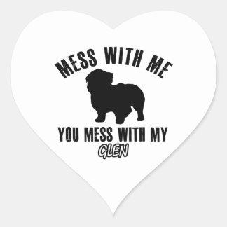 I love GLEN Heart Sticker