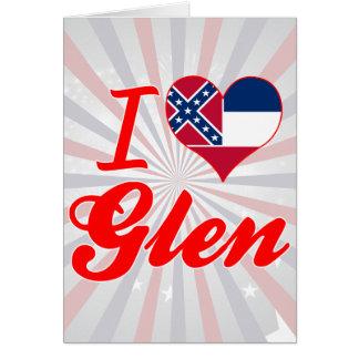 I Love Glen, Mississippi Card
