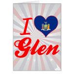 I Love Glen, New York Cards