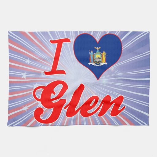 I Love Glen, New York Hand Towel