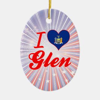 I Love Glen, New York Ornaments