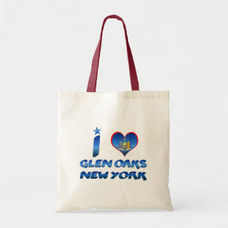 I love Glen Oaks, New York Budget Tote Bag