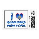I love Glen Oaks, New York Stamps