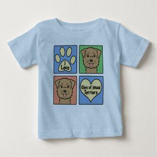 I Love Glen of Imaal Terriers Baby T-Shirt