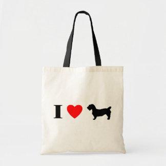 I Love Glen of Imaal Terriers Budget Tote Bag