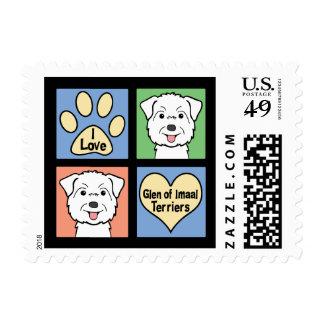 I Love Glen of Imaal Terriers Postage