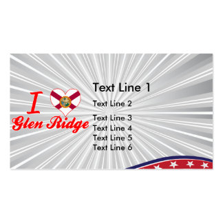 I Love Glen Ridge, Florida Double-Sided Standard Business Cards (Pack Of 100)