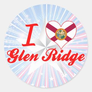 I Love Glen Ridge, Florida Classic Round Sticker