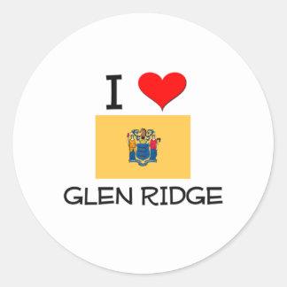 I Love Glen Ridge New Jersey Classic Round Sticker