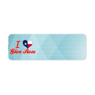I Love Glen Rose, Texas Custom Return Address Label