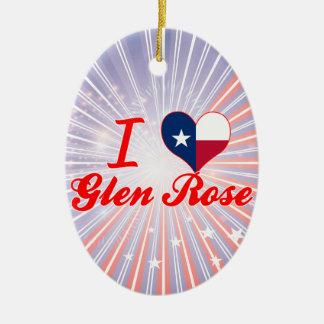 I Love Glen Rose, Texas Christmas Ornament