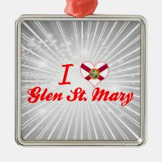 I Love Glen St. Mary, Florida Ornaments