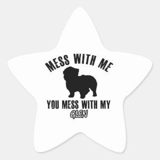 I love GLEN Star Sticker